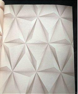 Papel De Parede Viníico 3d Sala Quarto Geométrico Perola