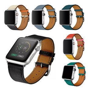 Pulseira Single Tour Couro Para Apple Watch 38mm 40mm 42mm