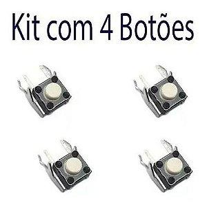 4 Peças Botão Rb Ou Lb - Shoulders Controle Xbox 360 E One
