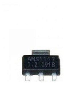 Ci Ams1117 1.2v ,1,8v  3,3v   Regulador Tensão Smd (5 Peças)