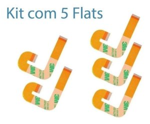 Kit 5x Cabo Flat J Ps2 Slim 900xx Flex + 1x Flat L