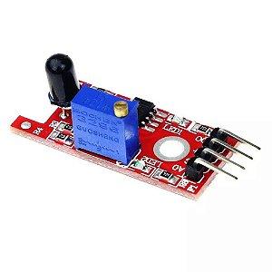 Kit 5x Sensor Detector Fogo Chama Arduino Automação Ky-026