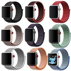Pulseira De Nylon Para Apple Watch 38 40 42 44 mm