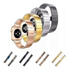 Pulseira Elos Para Apple Watch 40mm 44mm 42mm 38mm Aço Inox