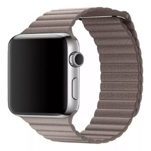 Pulseira Couro Loop Para Apple Watch 42/44mm Khaki