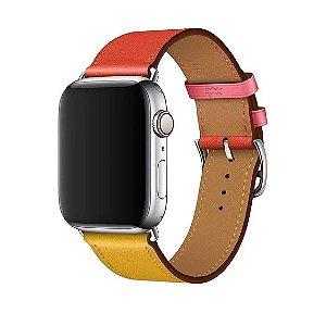 Pulseira Single Tour Apple Watch Vermelho e Marrom 42/44mm