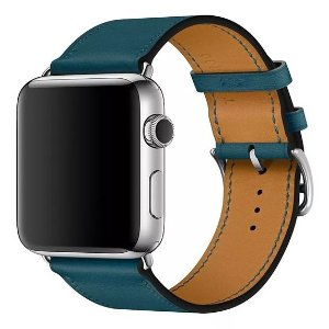 Pulseira Single Tour Couro P/ Apple Watch Verde 38/40mm