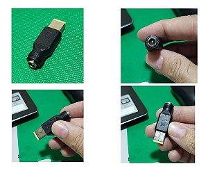 Adaptador Conector Lenovo Carregador Plug Retangular