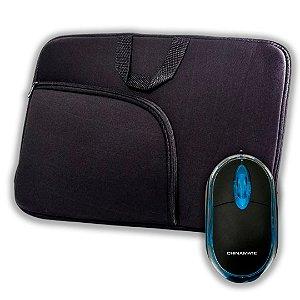 Kit Capa para Notebook com Bolso 15,6 + Mouse