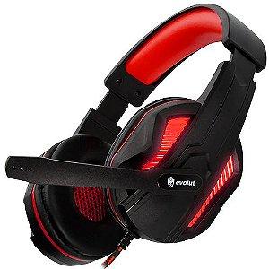 Headset Linha Gamer Evolut Thoth Vermelho