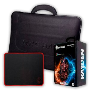 Kit Case para Notebook 17 + Mouse Pad + Mouse Gamer