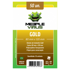 Sleeve Meeple Vírus Gold (80mm x 120mm)