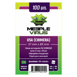 Sleeve Meeple Vírus Usa Chimera (57mm x 89mm)
