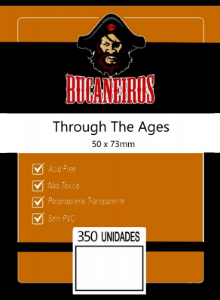 KIT DE SLEEVES CUSTOMIZADO (THROUGH THE AGES 50x73) - BUCANEIROS