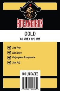 Sleeve Bucaneiros Gold (80mm X 120mm)