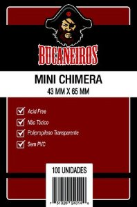 Sleeve Bucaneiros Mini Chimera (43mm X 65mm)