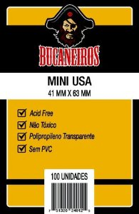 Sleeve Bucaneiros Mini Usa (41mm X 63mm)