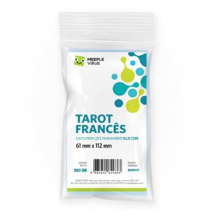 Sleeve Blue Core Tarot Francês (61mm X 112mm)
