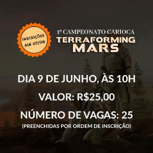 Inscrição Campeonato de Terraforming Mars