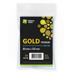 Sleeve Blue Core Gold Premium (80mm X 120mm)