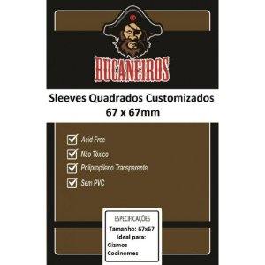 Sleeve Bucaneiros Customizado Gizmos e Codinomes (67mm X 67mm)