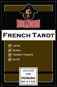 Sleeve Bucaneiros Customizado French Tarot (61mm x 112mm)