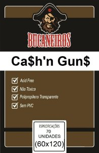Sleeve Bucaneiros Customizado Jamaica e Cash 'n' Guns (60mm x 120mm)
