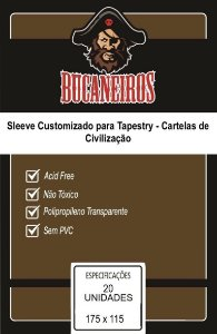Sleeve Customizado para Tapestry - Cartelas de Civilizacao (175 x 115)
