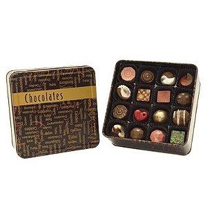 Lata Chocolate com 32 Bombons Sortidos