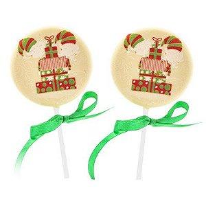 Pirulito Natal - Chocolate Branco