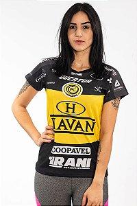 Baby Look Feminina Preta - FC Cascavel 2020