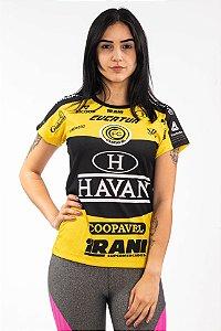 Baby Look Feminina Amarela - FC Cascavel 2020