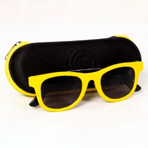 Óculos de Sol Amarelo/Preto Infantil - FC Cascavel
