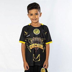 Camisa Infantil Free Fire Preta - FC Cascavel 2021