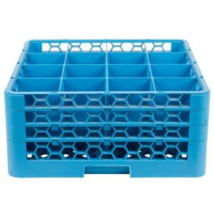 Rack para copos com 16 compartimentos com 3 Extensores