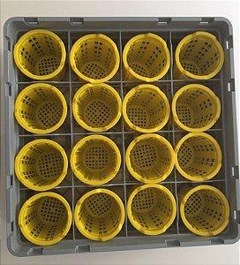 Rack para lavagem de talheres com 16 compartimentos