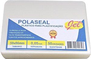 Plástico para Plastificação Polaseal Tamanho 59X86mm 125 Mícron 50 Unidades