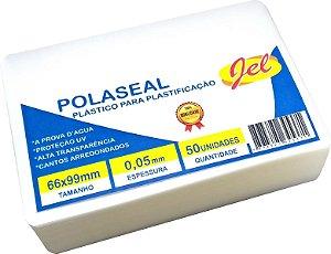 Plástico para Plastificação Polaseal Tamanho 66X99mm 125 Mícron 50 Unidades