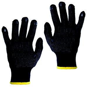 Luvas Tricotada De Algodão e Nylon Antiderrapante 02 Pares