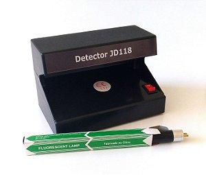 Detector De Dinheiro Luz Negra Bivolt Com Lâmpada Extra