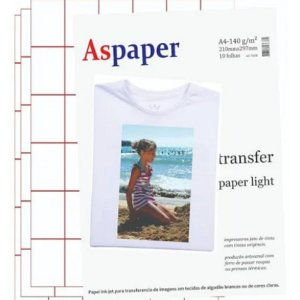 Papel Transfer Aspaper Inkjet A4 10 Folhas