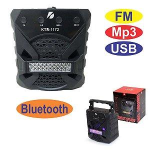 Caixa de Som Portátil Com Bluetooth MP3 Cartões de Memória e USB