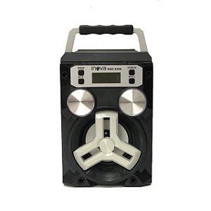 Caixa de Som Portátil Bluetooth INOVA  Modelo RAD - CINZA