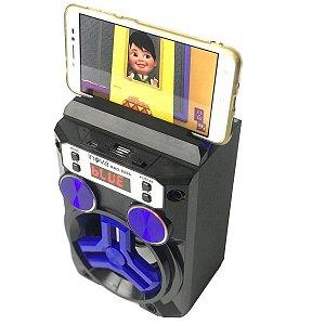 Caixa de Som Portátil Bluetooth INOVA  Modelo RAD - AZUL