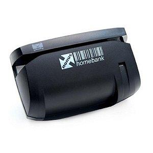 Leitor Manual para Leitura de Cheques HomeBank 20 USB Preto