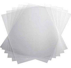 Capa para Encadernação PVC tamanho A4 Cristal com 100 unidades