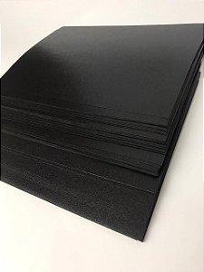 Capa para Encadernação PVC tamanho A4 Preta com 100 unidades