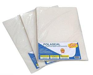 Plástico para Plastificação Polaseal Tamanho A4 125 Mícron Pacote com 50 plásticos