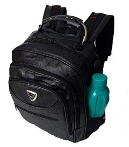 Mochila Executiva Ve Bags com Entrada para USB e Fone - Preta