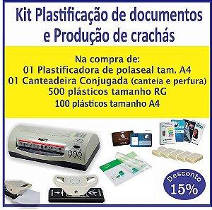 Kit Plastificação de documentos e Produção de crachás